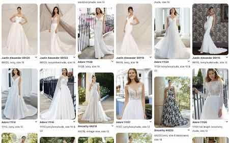 Image of bridal Pinterest page