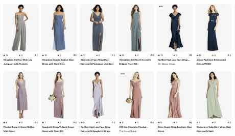 Image of bridesmaid Pinterest page